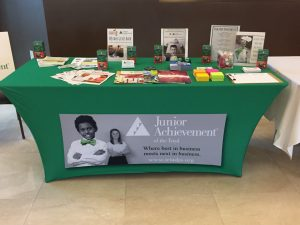 Custom Tablecovers trade show junior achievement 300x225